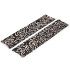 JUQI W59 Anti-UV Tattoo Pattern Seamless Sleeve for Cycling - Black + Skin Color (2 PCS)