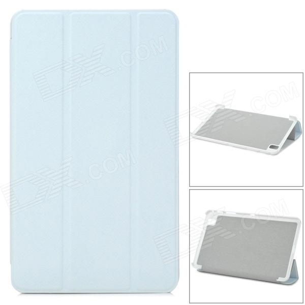Three-fold Flip Open PU Case w/ Stand for 8.4'' Samsung Galaxy Tab Pro - White