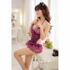 9861 Sexy Enticing Lace Night Skirt - Purple