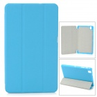Three-fold Flip Open PU Case w/ Stand for 8.4'' Samsung Galaxy Tab Pro - Light Blue