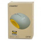 visenta i1 USB 2.0 Wired Mouse - Black + Blue (Cable-140cm)