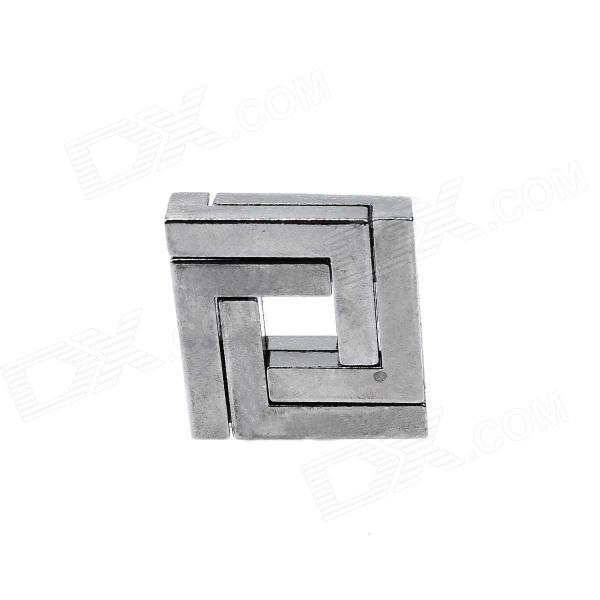 Zinc Alloy Educational Block Lock Puzzle Toys - Silvery Black alloy key lock adult puzzle toy