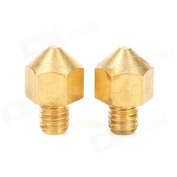 0.2mm Brass Nozzle Head for 3D Printer Ultimaker - Brass (2 PCS) комплекты эротик pink lipstick комплект 2 предмета