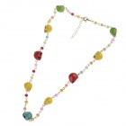 Fashionable Skull Style Womens Tophus Zinc Alloy Chain Necklace - Multicolored