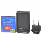 "YI-YI  ""3480mAh"" Li-ion Battery + USB Charger + EU Plug Adapter for Samsung Galaxy S3 i9500 - Black"