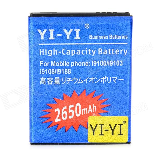 YI-YI 3.7V 2000mAh Li-ion Battery for Samsung Galaxy S2 / I9100 / i9103 / i9108 / i9188 yi yi high capacity 3 7v 2350mah li ion battery for samsung galaxy s4 mini i9190 orange