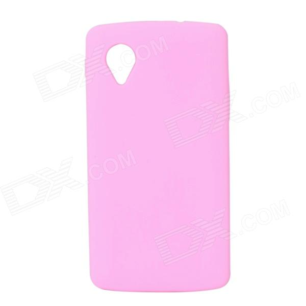 Silicone Protective Back Case for Google 5 / Nexus 5 - Pink чехол для iphone 6 глянцевый printio чудо женщина wonder woman