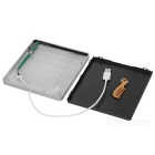 External USB Superdrive Enclosure SATA Slot Loading DVD Burner - Silve