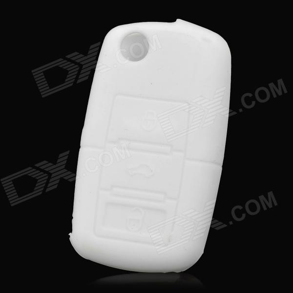 Gel140106 Protective Silicone Car Key Case for VW POLO / Passat / Tiguan / Touareg + More - White gel100601 universal silicone car key cover for vw more black