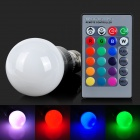 Q2 E27 5W 200lm 1-LED RGB Light Bulb - White + Silver Grey + Multi-Colored (AC 85~265V)