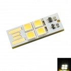 0.5W 45lm USB Touch Control 4-LED White Light Small Lamp - Silver + Black