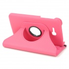 360° Rotary Protective Plastic + PU Flip Open Case w/ Stand for Samsung Galaxy Tab 3 Lite T110