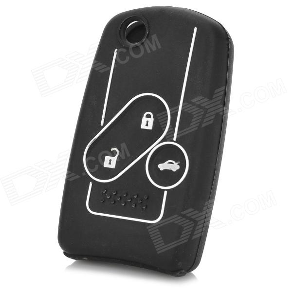 GEL012705 Protective Silicone Car Key Case for Honda Accord - White + Black