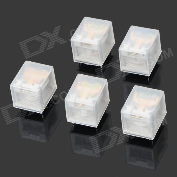 LQ1A1475 JZC-6F(4098) DC 3V Mini Electromagnetic Relay - White (5 PCS)