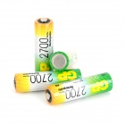 GP 2550mAh Rechargeable Ni-MH AA Battery - Green + Golden (4 PCS)