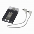 Multi-in-1 Micro USB OTG 2.0 Hub / SD(HC) / TF  Card Reader / Mobile Phone Stand - Black