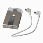 Multi-in-1 Micro USB OTG 2.0 HUB / SD(HC) / TF  Card Reader / Mobile Phone Stand - Champagne