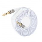 3.5mm Male to Male Mobile Phone Earphone Connection Cable - White (120cm)