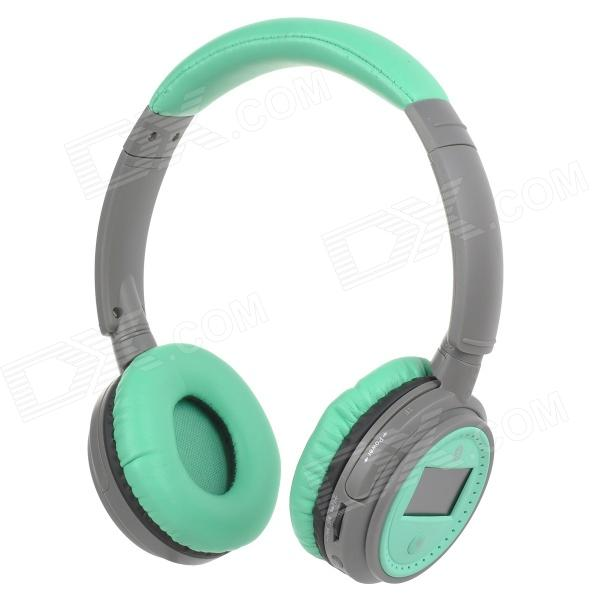 XF-228 1.3 LCD Bluetooth V2.1 Stereo Headphones MP3 Player w/ TF / FM / Mic - Green (Max. 16GB) sh s5 rechargeable sports mp3 player headphones headset w fm tf black