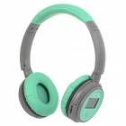 "XF-228 1.3"" LCD Bluetooth V2.1 Stereo Headphones MP3 Player w/ TF / FM / Mic - Green (Max. 16GB)"