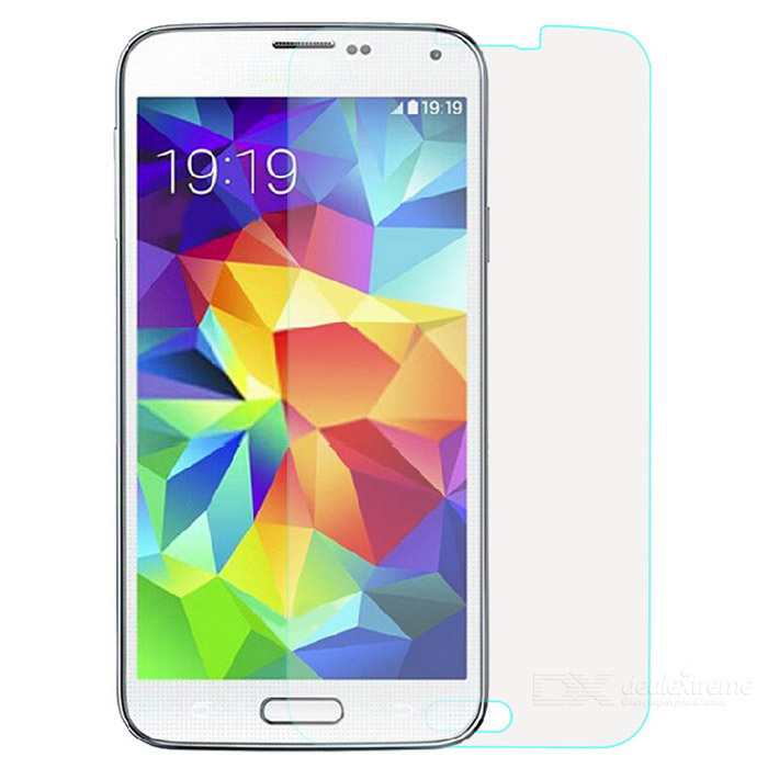 Tempered Glass Screen Protector Film for Samsung S5 - Transparent