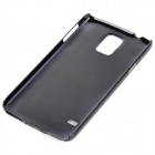 Protective Carbon Fiber + Plastic Back Case for Samsung Galaxy S5 - Blue + Black