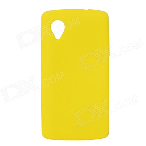 Protective Silicone Case for Google Nexus 5 - Yellow protective silicone back case for google nexus 5 translucent white