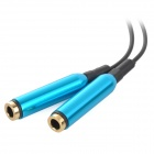 S-What Universal 1-to-2 3.5mm Audio Cable - Black + Dark Blue
