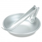 Outdoor Portable Foldable Aluminum Spoon - Silvery Grey