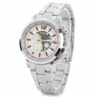 Zhong Yi z-803 Woman's Classic Analog Quartz Wristwatch - Silver + White (1 x 626)