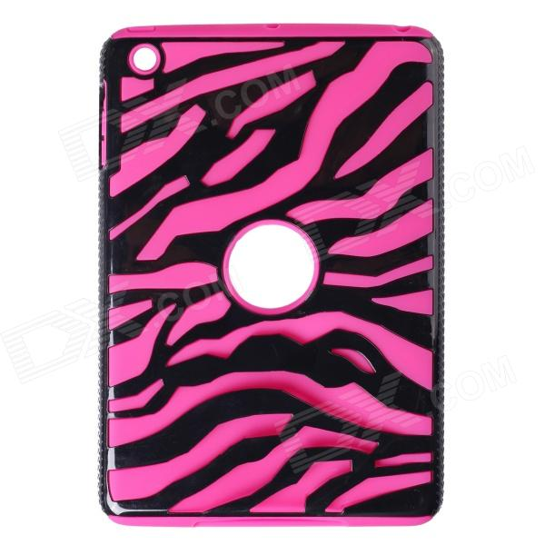 Hotsale Zebra Style Protective Silicone Back Case for IPAD MINI / RETINA IPAD MINI - Deep Pink for ipad mini4 cover high quality soft tpu rubber back case for ipad mini 4 silicone back cover semi transparent case shell skin
