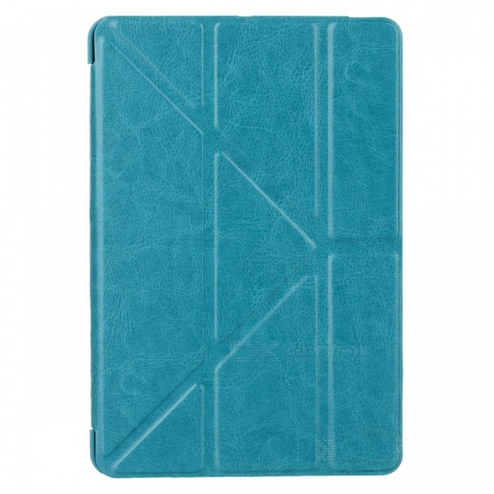 цены Ultra Thin PU Leather Case Cover Stand w/ Auto Sleep for RETINA IPAD MINI / IPAD MINI - Lake Blue