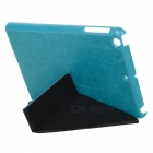 Ultra Thin PU Leather Case Cover Stand w/ Auto Sleep for RETINA IPAD MINI / IPAD MINI - Lake Blue