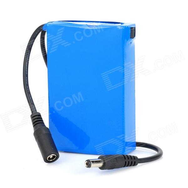 DC-12300 12.6V 1500mAh Rechargeable Li-ion Polymer Battery - Blue + Black in 2000mah 524070 7 4v lithium polymer battery 504070 dvd mobile walkie talkie microphone rechargeable li ion cell