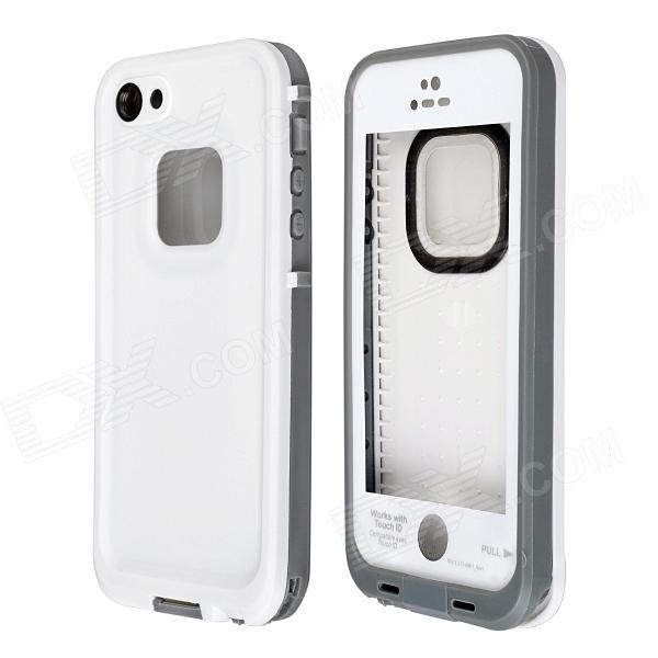 все цены на Redpepper Ultra-Thin Waterproof Snowproof Protective Back Case w/ Touch ID for IPHONE 5 / 5S - White онлайн
