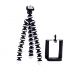 "2-in-1 6.5"" Octopus TrIPOD for Digital Camera / Phone - Black + White"