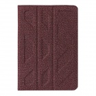 Double Side Protective Cotton Leather Case Cover Stand for RETINA IPAD MINI - Deep Pink