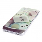 Kinston Cute Marshmallow Pattern PC Hard Case for IPHONE 5 / 5S - Green + White