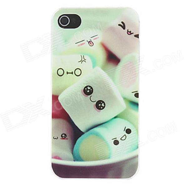 Kinston Lovely Cartoon Marshmallow Pattern Matte PC Hard Back Case for IPHONE 4 / 4S - Light Green nillkin protective matte plastic back case w screen protector for iphone 6 4 7 golden