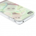 Kinston Lovely Cartoon Marshmallow Pattern Matte PC Hard Back Case for IPHONE 4 / 4S - Light Green