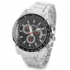 Zhongyi W824 Men's Classic Analog Quartz Wristwatch - Silver White + Black (1 x 626)