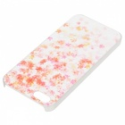 Kinston Maple Pattern Transparent Frame PC Hard Back Case for IPHONE 5 / 5S - White + Pink