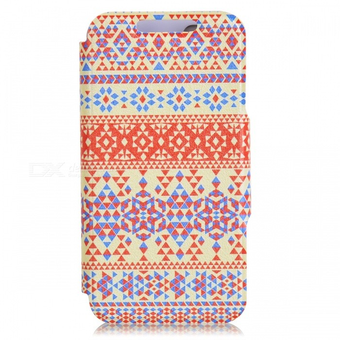 Kinston Vintage Stripe Pattern PU Leather Case Cover Stand for IPHONE 5 / 5S - Multicolored