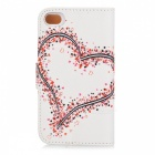 Kinston Beautiful Girl on the Horse Pattern PU Leather Case Cover Stand w/ Stand for IPHONE 4 / 4S