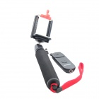 Monopod Holder + Phone Clip + Wireless Remote Control for IPHONE - Black + Red