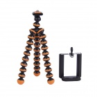 "2-in-1 6.5"" Octopus Tripod for Digital Camera / Phone - Black + Orange"