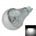 LUO GU10 12W 1000lm 6500K 24 x SMD 5630 LED White Light Bulb - Silver +  Transparent (85~265V)