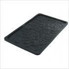 Flower-Shaped Car Anti-skid Mat - Black