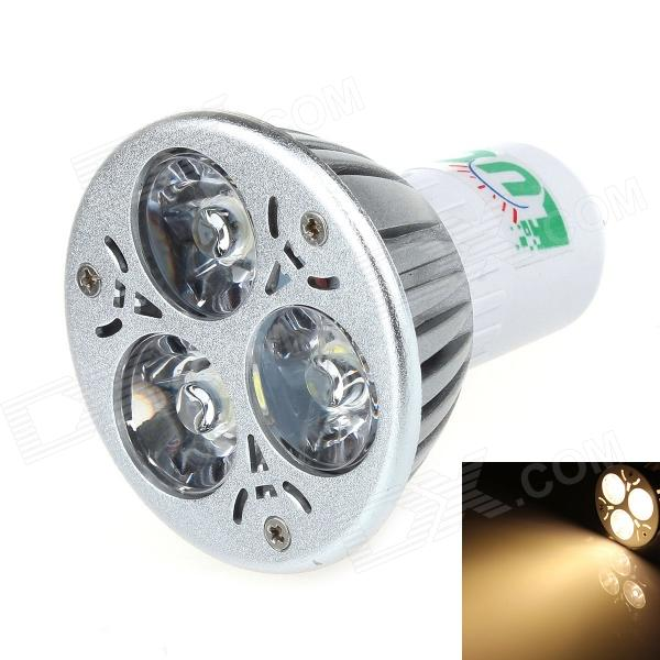 LUO V26 G5.3 3W 300lm 3000K 3 x SMD LED Warm White Light Spotlight - Silver (95~245V)