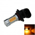 9005 / HB3 7.5W 400lm 5-LED Yellow Light Polarity Free Car Foglight / Headlamp / Tail Light (12~24V)